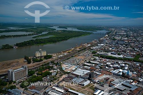 Assunto: Vista aérea do porto de Porto Alegre / Local: Navegantes - Porto Alegre - Rio Grande do Sul (RS) - Brasil / Data: 12/2012