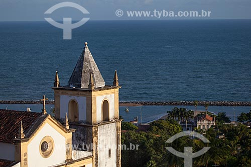 Assunto: Campanário da Igreja de São Salvador do Mundo - também conhecida como Igreja da Sé (século XVI) / Local: Olinda - Pernambuco (PE) - Brasil / Data: 01/2013