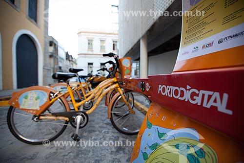 Assunto: Estação de bicicletas públicas - para aluguél / Local: Recife - Pernambuco (PE) - Brasil / Data: 01/2013