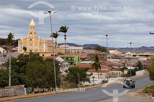 Assunto: Igreja Matriz São José às margens da Rodovia PE-320 / Local: São José do Egito - Pernambuco (PE) - Brasil / Data: 01/2013