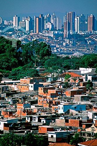 Assunto: Vista da comunidade de Heliópolis / Local: São Paulo (SP) - Brasil / Data: 1994