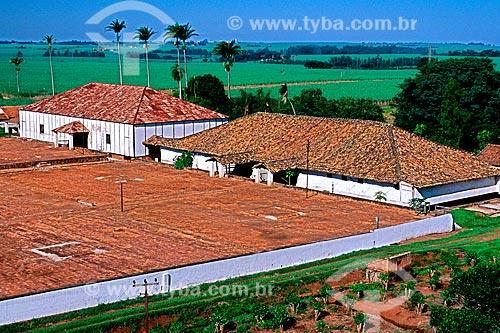 Assunto: Terreiro de secagem de café na fazenda Ibicaba / Local: Cordeirópolis - São Paulo (SP) - Brasil / Data: 1996