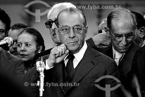 Assunto: Ex presidente João Batista Figueiredo em sua campanha presidencial / Local: São Paulo (SP) - Brasil / Data: 1978