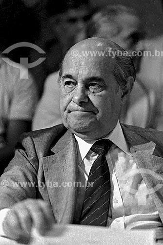 Assunto: Tancredo Neves na reunião de comitê suprapartidário da campanha por eleições Diretas Já na Assembleia Legislativa / Local: São Paulo (SP) - Brasil / Data: 1984