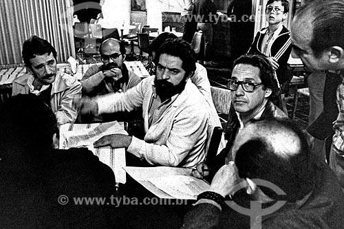 Assunto: Luiz Inácio Lula da Silva e Fernando Henrique Cardoso no encontro do Sindicato dos Siderúrgicos e Metalúrgicos / Local: São Bernardo do Campo - São Paulo (SP) - Brasil / Data: 1980