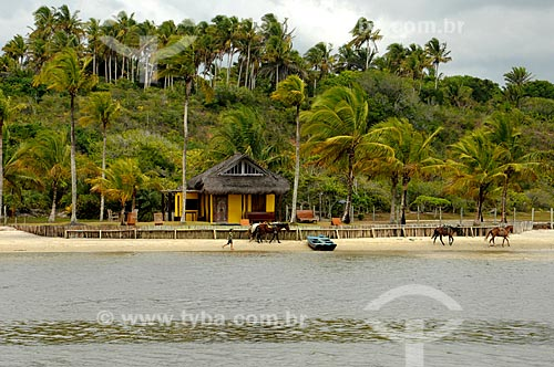 Assunto: Praia em Caraíva / Local: Porto Seguro - Bahia (BA) - Brasil / Data: 01/2013