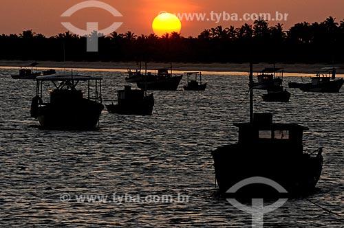 Assunto: Pôr do sol em praia de Corumbau / Local: Prado - Bahia (BA) - Brasil / Data: 01/2013