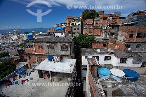 Assunto: Vista de casas do Morro do Cantagalo / Local: Ipanema - Rio de Janeiro (RJ) - Brasil / Data: 04/2010