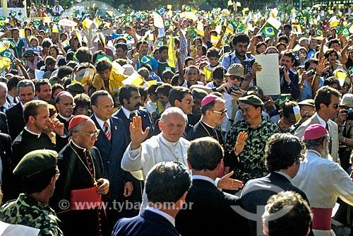 Assunto: Visita do Papa João Paulo II ao Brasil / Local: Belém - Pará (PA) - Brasil / Data: 1980