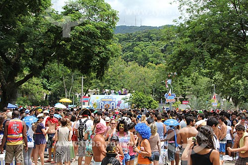 Assunto: Desfile do bloco Desliga da Justiça na Praça Santos Dumont / Local: Gávea - Rio de Janeiro (RJ) - Brasil / Data: 01/2013