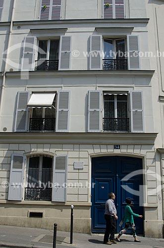 Assunto: Casa onde morou Vicent Van Gogh e seu irmão Theo entre 1886 - 1888 / Local: Montmartre - Paris - França - Europa / Data: 05/2012