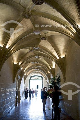 Assunto: Abóbadas em cruzaria do vestíbulo do Château de Chenonceau (Castelo de Chenonceau) - também conhecido como Castelo das Sete Damas / Local: Indre-et-Loire - França - Europa / Data: 06/2012