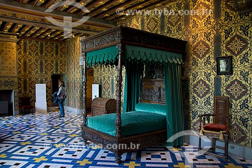 Assunto: Quarto real no Château Royal de Blois (Castelo Real de Blois) - aposentos da Rainha / Local: Blois - França - Europa / Data: 06/2012