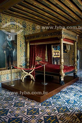 Assunto: Quarto real no Château Royal de Blois (Castelo Real de Blois) - aposentos do Rei / Local: Blois - França - Europa / Data: 06/2012