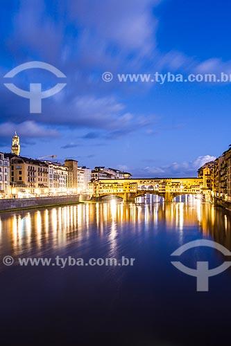 Assunto: Ponte Vecchio sobre o Rio Arno / Local: Florença - Itália - Europa / Data: 12/2012