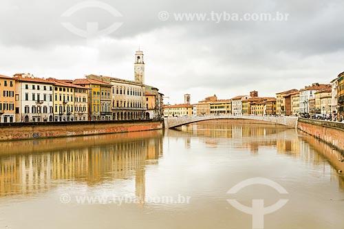 Assunto: Vista do Rio Arno / Local: Província de Pisa - Itália - Europa / Data: 12/2012