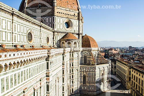 Assunto: Catedral de Santa Maria de Fiore (Cattedrale di Santa Maria del Fiore) vista do Campanário de Giotto / Local: Florença - Itália - Europa / Data: 12/2012
