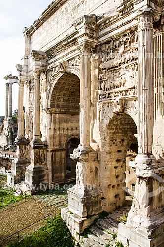 Assunto: Arco de Septímio Severo (Arco di Settimio Severo) no Fórum Romano (Foro Romano) / Local: Roma - Itália - Europa / Data: 12/2012
