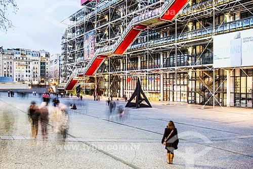 Assunto: Museu de Arte Moderna de Paris (1977) - localizado no Centro Nacional de Arte e Cultura Georges Pompidou / Local: Paris - França - Europa / Data: 01/2013