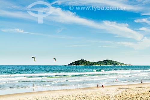 Assunto: Praia do Campeche com a Ilha do Campeche ao fundo / Local: Florianópolis - Santa Catarina (SC) - Brasil / Data: 02/2013