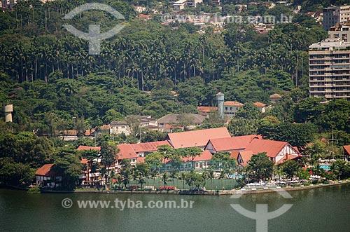 Assunto: Vista do Clube Naval Piraquê (1940) / Local: Lagoa - Rio de Janeiro (RJ) - Brasil / Data: 03/2013