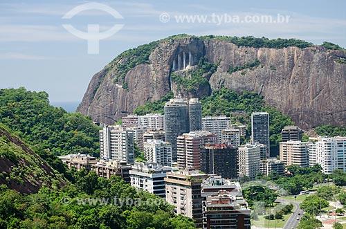 Assunto: Vista do Corte do Cantagalo a partir do Parque Natural Municipal da Catacumba / Local: Lagoa - Rio de Janeiro (RJ) - Brasil / Data: 03/2013
