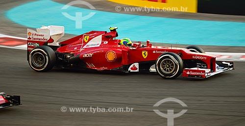 Assunto: Felipe Massa (Ferrari) durante o Grande Prêmio de Fórmula 1 no Autódromo de Abu Dhabi (Circuito de Yas Marina) / Local: Ilha Yas - Abu Dhabi - Emirados Árabes Unidos - Ásia / Data: 11/2012