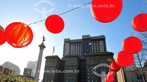 Assunto: Luminárias Japonesas na Union Square / Local: São Francisco - Califórnia - Estados Unidos da América - EUA / Data: 02/2013