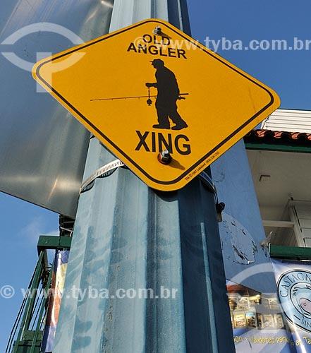 Assunto: Placa em rua de São Francisco / Local: São Francisco - Califórnia - Estados Unidos da América - EUA / Data: 02/2013