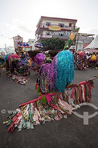 Assunto: Caboclos de lança em apresentação de Maracatu Rural - também conhecido como Maracatu de Baque Solto (Maracatu Leão Brasileirinho) / Local: Nazaré da Mata - Pernambuco (PE) - Brasil / Data: 02/2013