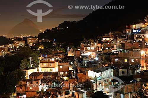 Assunto: Vista da Favela Santa Marta com Cristo Redentor ao fundo / Local: Rio de Janeiro (RJ) - Brasil / Data: 02/2012