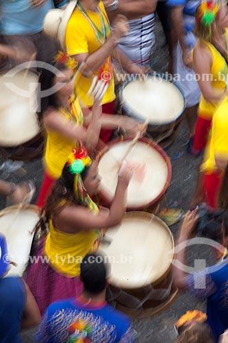 Assunto: Bateria de bloco durante o carnaval de rua / Local: Olinda - Pernambuco (PE) - Brasil / Data: 02/2013