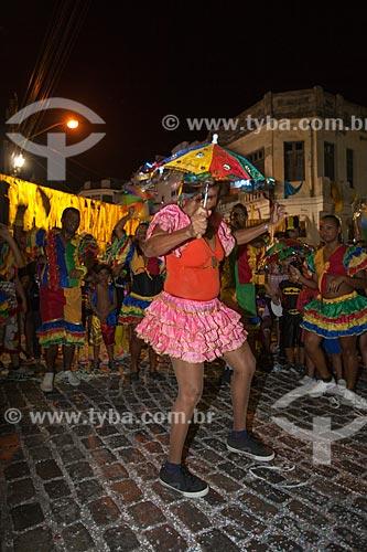 Assunto: Apresentação de frevo do Grupo Folclórico Egídio Bezerra durante o carnaval / Local: Recife - Pernambuco (PE) - Brasil / Data: 02/2013