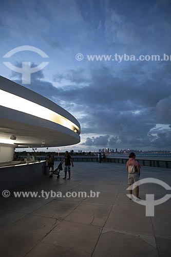 Assunto: Vista do anoitecer no terraço da Torre Mirante da Estação Cabo Branco (2008) - também conhecida como Estação Ciência, Cultura e Artes / Local: João Pessoa - Paraíba (PB) - Brasil / Data: 02/2013