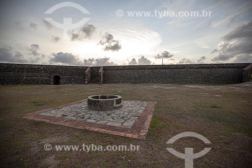 Assunto: Poço no pátio do Forte de Santa Catarina do Cabedelo (1585) - também conhecida como Fortaleza de Santa Catarina / Local: Cabedelo - Paraíba (PB) - Brasil / Data: 02/2013