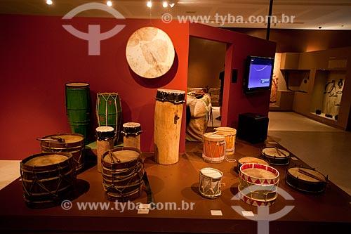Assunto: Instrumentos de percussão - Exposição permanente na Fundação Joaquim Nabuco, Campus Gilberto Freyre (Uso cultural) / Local: Recife - Pernambuco (PE) - Brasil / Data: 02/2013