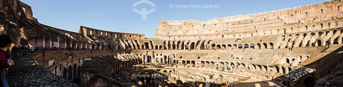 Assunto: Turistas no interior do Coliseu / Local: Roma - Itália - Europa / Data: 12/2012