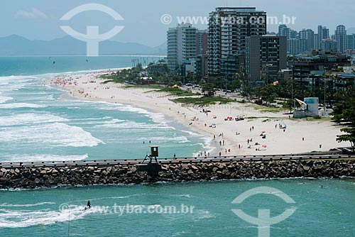Assunto: Vista do quebra-mar e Praia da Barra da Tijuca / Local: Rio de Janeiro (RJ) - Brasil / Data: 01/2013