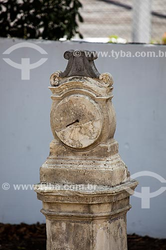 Assunto: Relógio de Sol (1781) - em pedra calcária - nos jardins da Igreja de São Francisco no Centro Cultural São Francisco / Local: João Pessoa - Paraíba (PB) - Brasil / Data: 02/2013