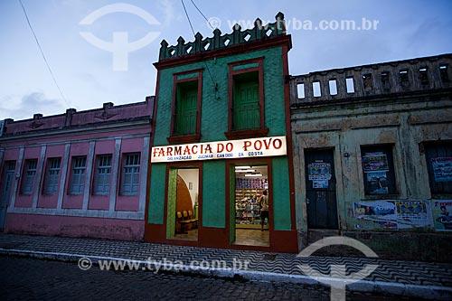 Assunto: Farmácia e casarios históricos na Rua Presidente Getúlio Vargas / Local: Areia - Paraíba (PB) - Brasil / Data: 02/2013