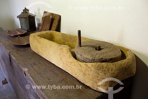 Assunto: Moinho de Pedra de Mó em exposição no Museu do Brejo Paraibano - também conhecido como Museu da Rapadura - da Universidade Federal da Paraíba / Local: Areia - Paraíba (PB) - Brasil / Data: 02/2013