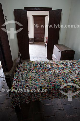 Assunto: Colcha de fuxico em exposição no Museu do Brejo Paraibano - também conhecido como Museu da Rapadura - da Universidade Federal da Paraíba / Local: Areia - Paraíba (PB) - Brasil / Data: 02/2013