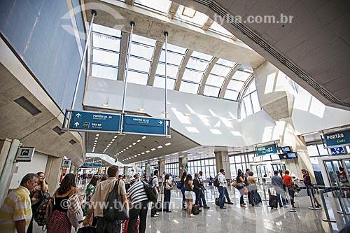 Assunto: Área de embarque do Terminal 2 do Aeroporto Internacional Antônio Carlos Jobim (1952) / Local: Ilha do Governador - Rio de Janeiro (RJ) - Brasil / Data: 03/2013