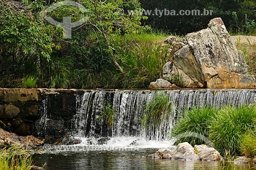 Assunto: Cachoeira da Barragem no Ribeirão do Claro - complexo da Serra da Canastra / Local: Delfinópolis - Minas Gerais (MG) - Brasil / Data: 03/2013