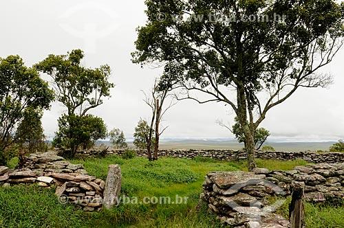 Assunto: Curral de Pedras no Parque Nacional da Serra da Canastra  / Local: São Roque de Minas - Minas Gerais (MG) - Brasil / Data: 03/2013