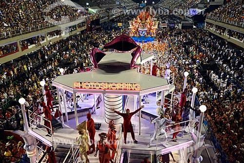 Assunto: Desfile do Escola de Samba Grêmio Recreativo Escola de Samba Acadêmicos do Salgueiro - Carro alegórico - Enredo 2013 - Fama / Local: Rio de Janeiro (RJ) - Brasil / Data: 02/2013