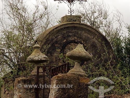 Assunto: Entrada de antigo cemitério na Estância da Bica / Local: Distrito de Música - Dom Pedrito - Rio Grande do Sul (RS) - Brasil / Data: 2012