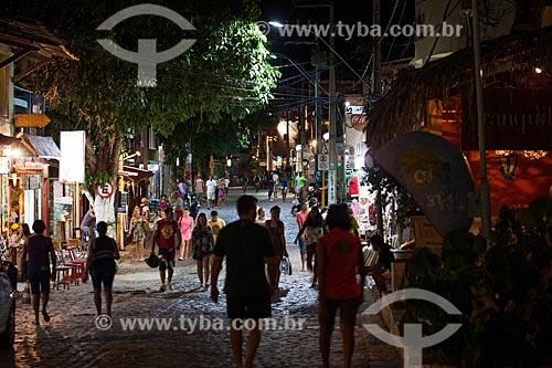 Assunto: Turistas na Avenida Baía dos Golfinhos  / Local: Distrito de Pipa - Tibau do Sul - Rio Grande do Norte (RN) - Brasil / Data: 03/2013
