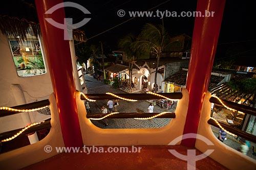 Assunto: Turistas na Avenida Baía dos Golfinhos vistos a partir da Galeria Vila Mangueira / Local: Distrito de Pipa - Tibau do Sul - Rio Grande do Norte (RN) - Brasil / Data: 03/2013