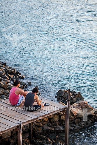 Assunto: Turistas em deck na Lagoa de Guaraíras, também conhecida como Lagoa do Tibau   / Local: Distrito de Pipa - Tibau do Sul - Rio Grande do Norte  (RN) - Brasil / Data: 03/2013